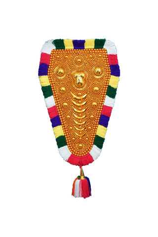 Traditional Kerala Nettipattam (Elephant Caparison) Wall Hanging