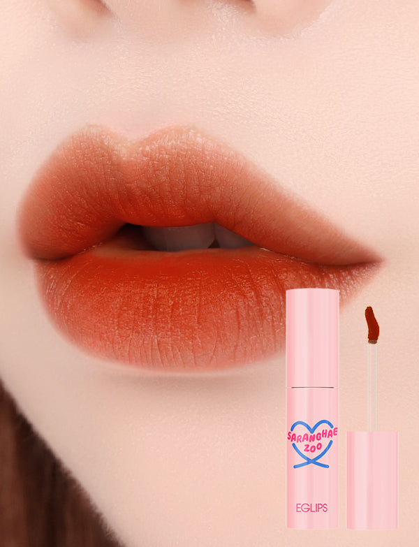 Eglips - NEW Saranghae Zoo Cottoncandy Tint 04 Tangerine Brown