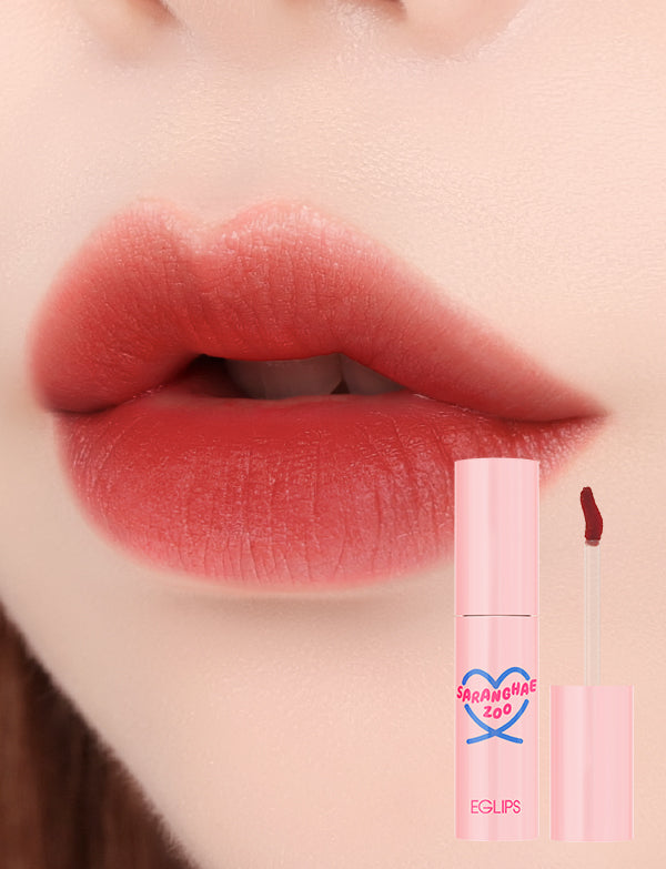 Eglips - NEW Saranghae Zoo Cottoncandy Tint 05 Coral Brown