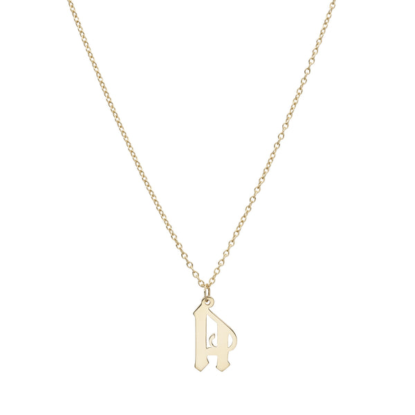 Gothic Initial Necklace - Bianca Pratt Jewelry