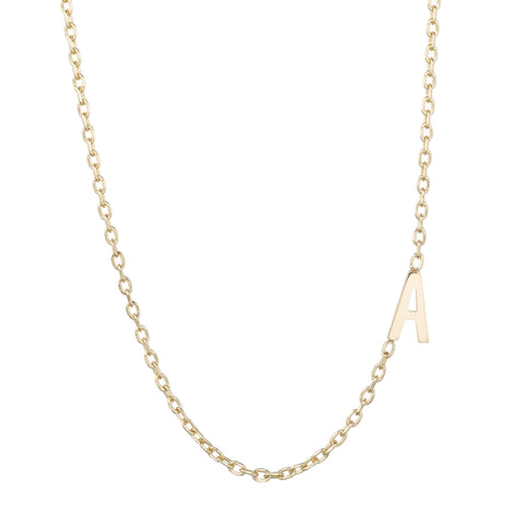 Classic Initial Necklace - Bianca Pratt Jewelry