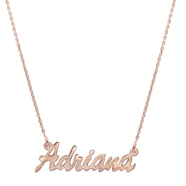 Adriana Nameplate Necklace