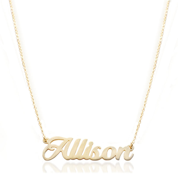 """Allison-Style"" Nameplate Necklace"
