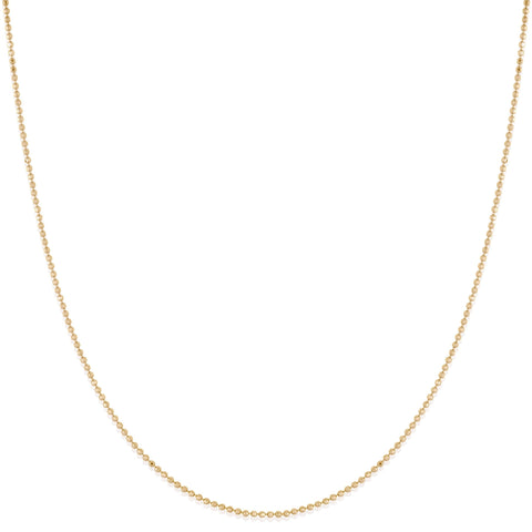 Diamond Cut Beaded Cable Chain Necklace - Bianca Pratt Jewelry