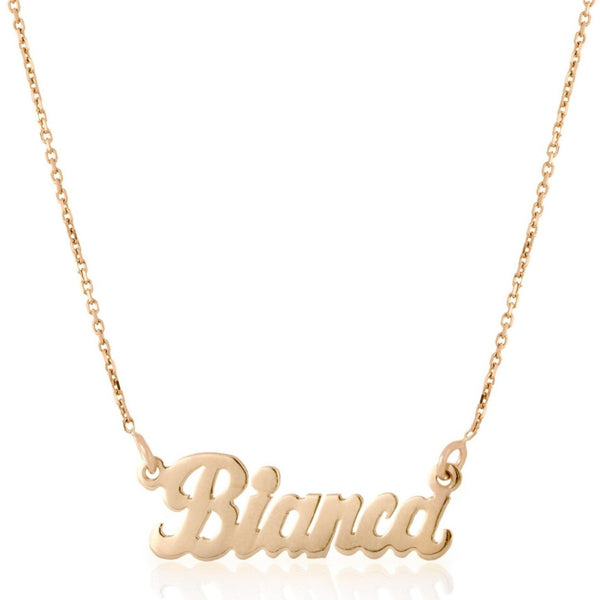 """Bianca-Style"" Nameplate Necklace"