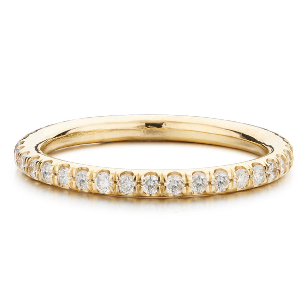 Yellow Gold Eternity Band - Bianca Pratt Jewelry