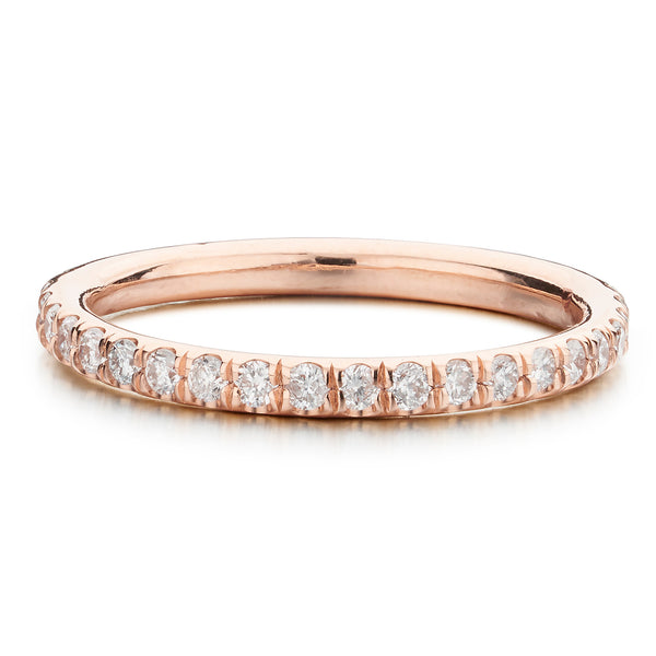 Rose Gold Eternity Band - Bianca Pratt Jewelry
