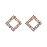 Square Diamond Studs - Bianca Pratt Jewelry