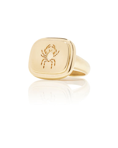 Cancer Zodiac Ring - Bianca Pratt Jewelry