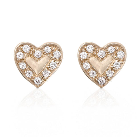 Diamond Heart Earrings - Bianca Pratt Jewelry