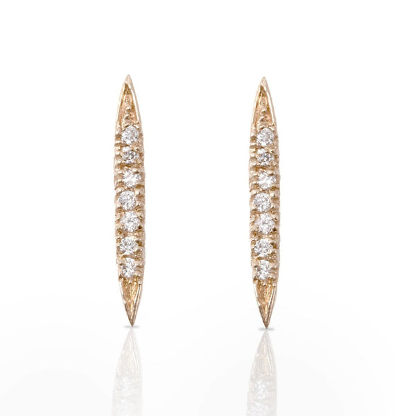 Diamond Canoe Earrings - Bianca Pratt Jewelry