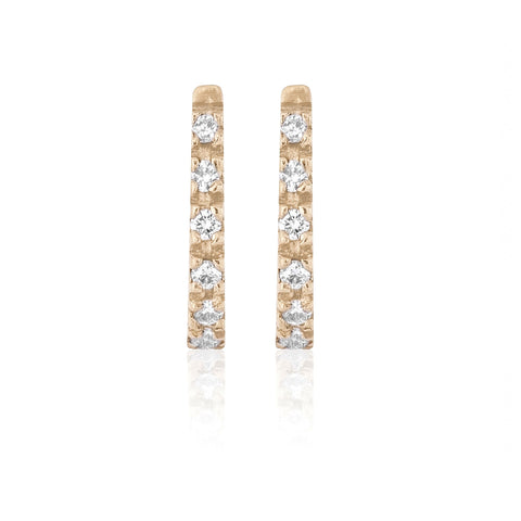 Diamond Oval Huggies - Bianca Pratt Jewelry