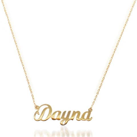 """Dayna"" Nameplate Necklace"