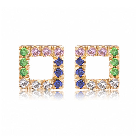 Bright Open Square Stud - Bianca Pratt Jewelry