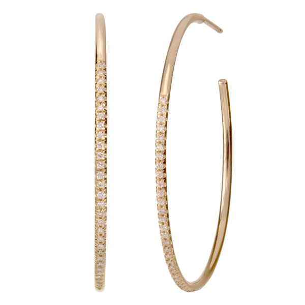 Diamond Hoops - Bianca Pratt Jewelry