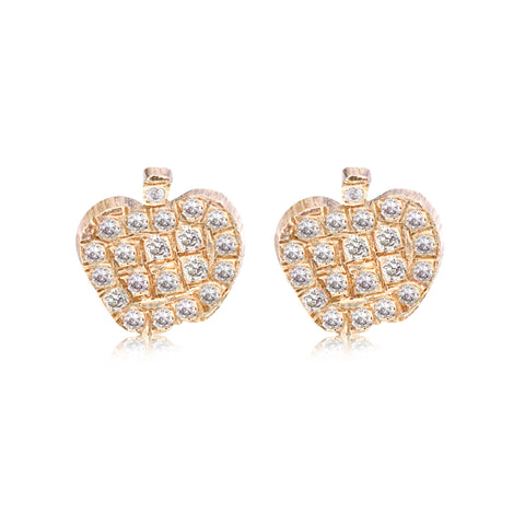 Little Apple Studs - Bianca Pratt Jewelry
