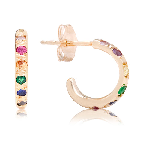 Rainbow Huggies - Bianca Pratt Jewelry