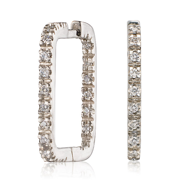 Square Diamond Huggies - Bianca Pratt Jewelry
