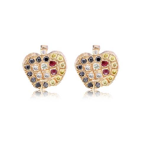 Winter Apple Studs - Bianca Pratt Jewelry