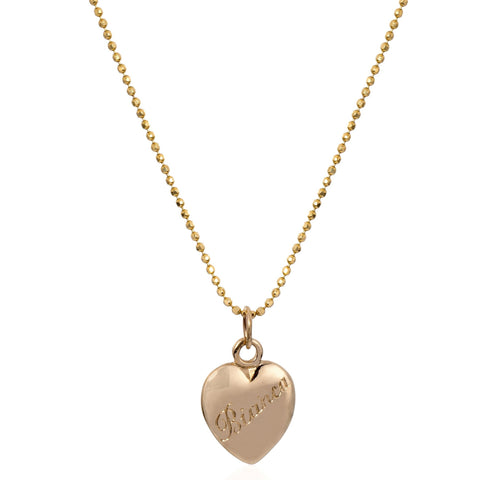 Engraved Heart Necklace - Bianca Pratt Jewelry
