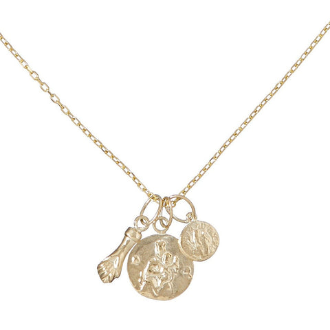 Figa, Madonna & Small Coin Necklace