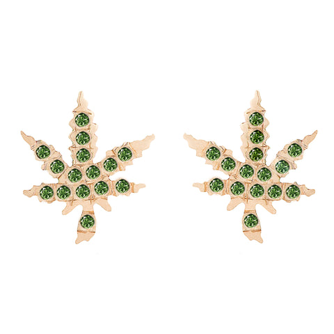 Emerald Mary Jane Studs - Bianca Pratt Jewelry
