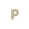 Chunky Initial Earring with Diamonds - Bianca Pratt Jewelry