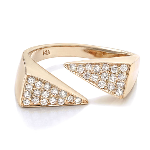 Triangle Pavé Ring - Bianca Pratt Jewelry