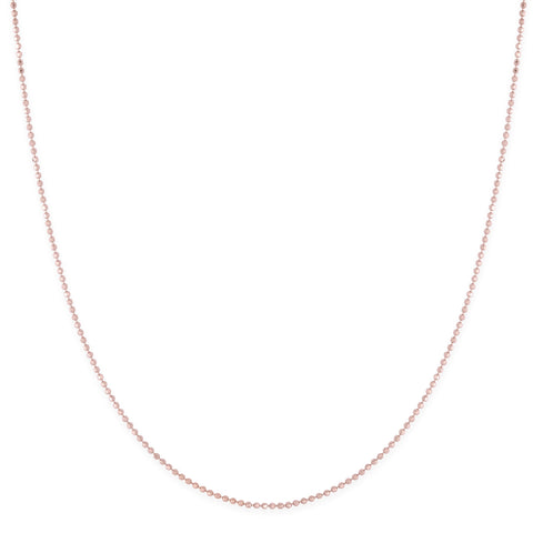 Rose Gold Beaded Cable Chain Necklace - Bianca Pratt Jewelry