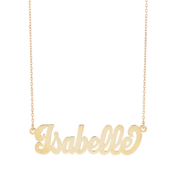 Bolded Nameplate Necklace - Bianca Pratt Jewelry