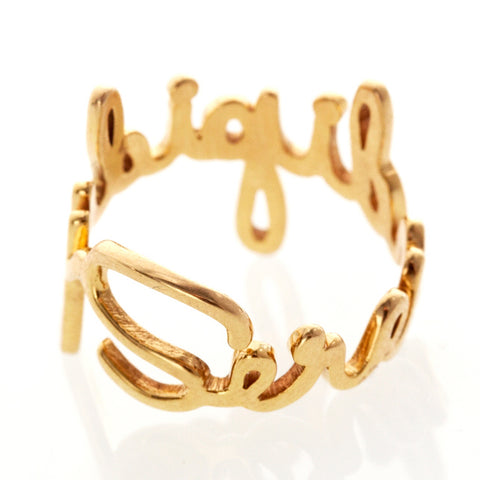 Word Ring - Bianca Pratt Jewelry