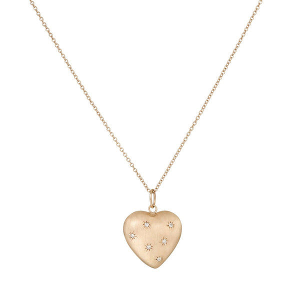Diamond Puffed Heart Necklace - Bianca Pratt Jewelry