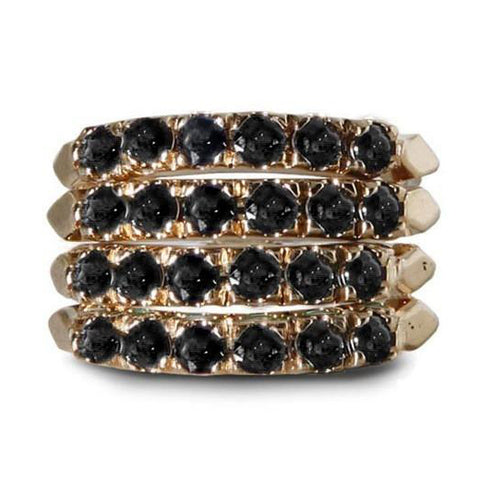 Black Spinnel Stack Ring Set - Bianca Pratt Jewelry