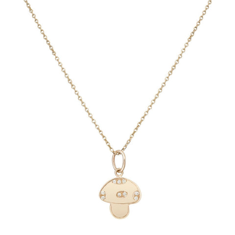Mushroom Necklace with Diamonds - Bianca Pratt Jewelry