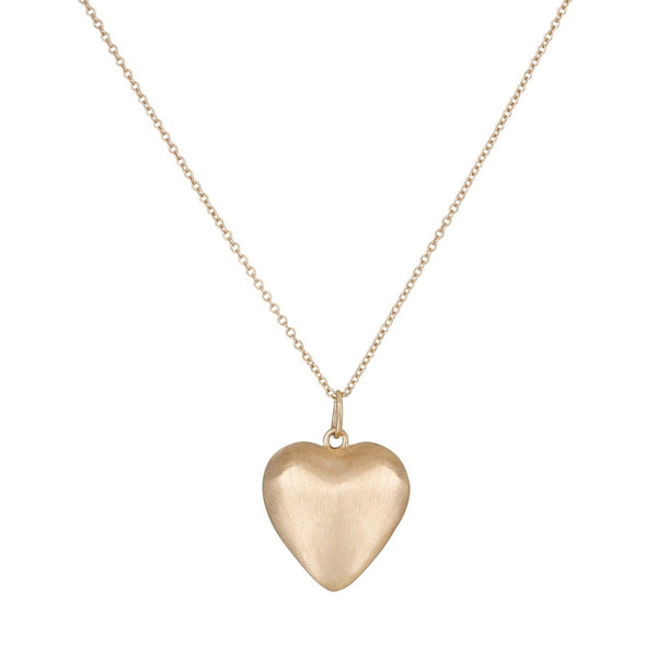 Puffed Heart Necklace - Bianca Pratt Jewelry