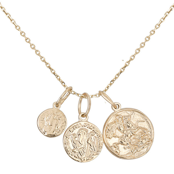King George/Medium Coin/Small Coin Necklace
