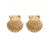 Canary Diamond Shell Studs - Bianca Pratt Jewelry