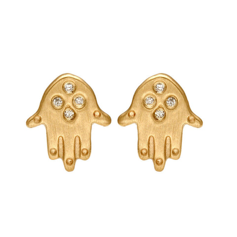 Hamsa Hand Earrings - Bianca Pratt Jewelry