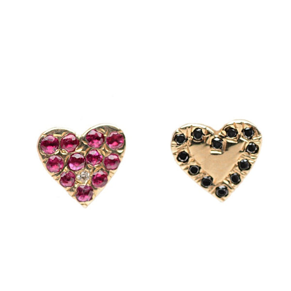 Mismatched Heart Earrings - Bianca Pratt Jewelry