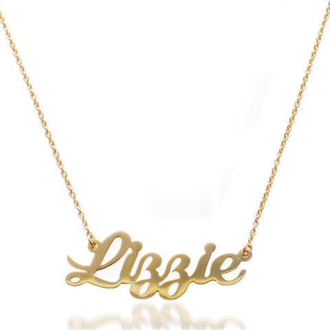 """Lizzie"" Nameplate Necklace"