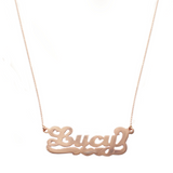 """Lucy-Style"" Rose Gold Nameplate Necklace"