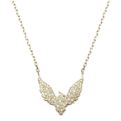 Diamond Bird Necklace - Bianca Pratt Jewelry