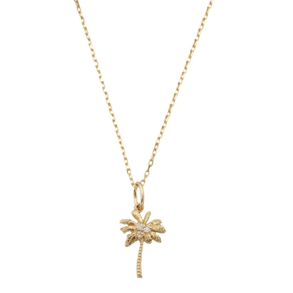 Palm Tree Necklace with Diamonds - Bianca Pratt Jewelry
