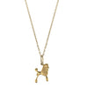 10K Yellow Gold Poodle Necklace
