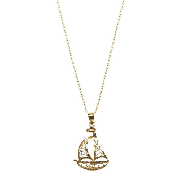 Sailboat Necklace - Bianca Pratt Jewelry