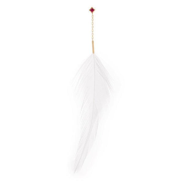 Ruby Feather Earring - Bianca Pratt Jewelry