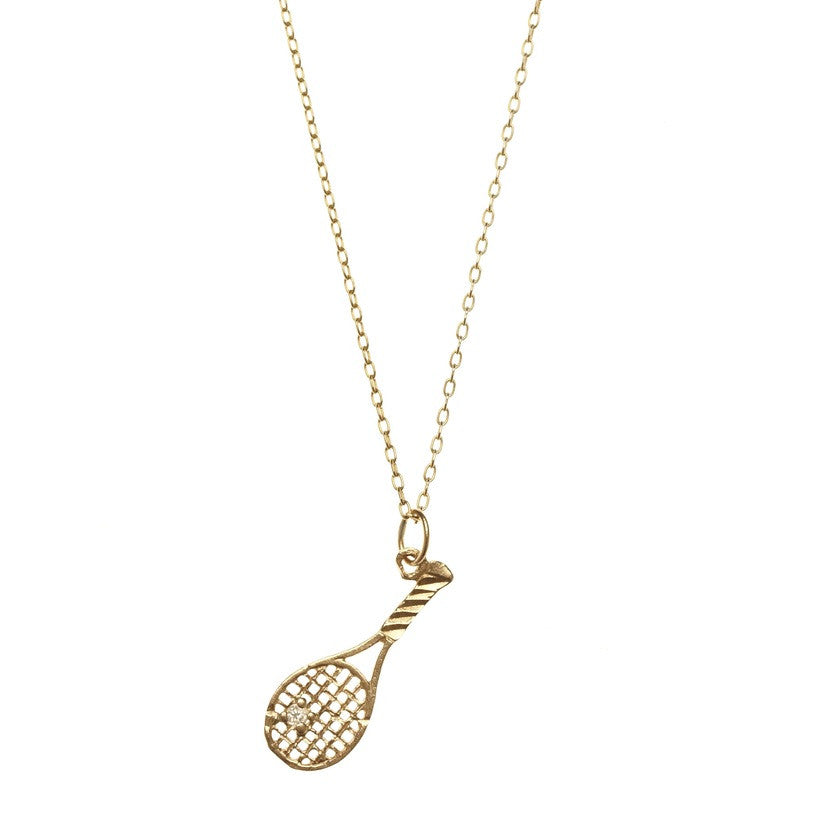 Tennis racket necklace with diamond bianca pratt jewelry tennis racket necklace with diamond mozeypictures Image collections