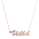 """Villa-Style"" Rose Gold Nameplate Necklace"