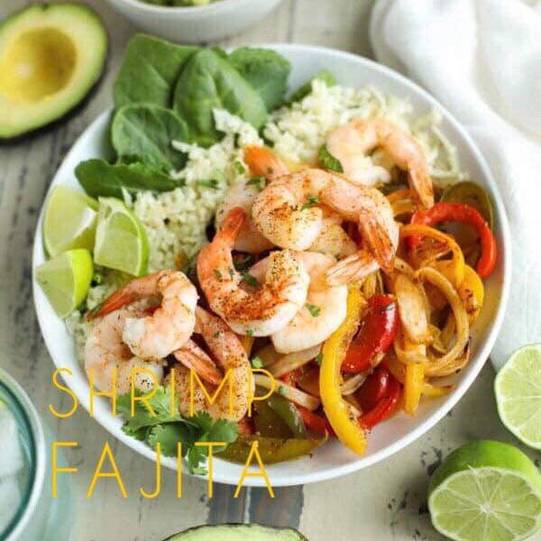 1/14 MONDAY DINNER  SHRIMP FAJITA BOWL - The Custom Plate formerly Mercer Island Paleo Kitchen