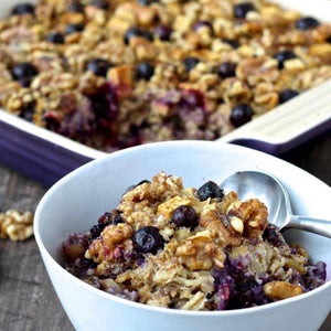 Baked Blueberry & Apple Oatmeal Casserole